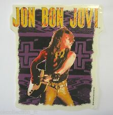 VECCHIO ADESIVO ORIGINALE /Old Original Sticker rock band JON BON JOVI (cm12x14)