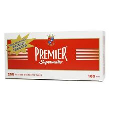 5x Boxes 1000 ct - Premier 100mm Full Flavor Tobacco Cigarette Tubes Red RYO