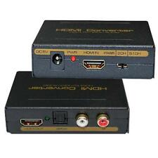 New HDMI to HDMI + SPDIF + RCA L/R Audio Extractor Converter Sound Audio Hot OO