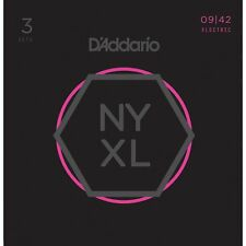 3 Sets D'Addario NYXL0942 Nickel Wound Super Light Electric Guitar Strings 9-42