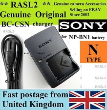 Genuine SONY Charger BC-CSN for NP-BN1 DSC-W310.W320 W330 W350 W380 W390 TX5 TX7