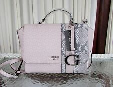 GUESS Swim Handbag Crossbody Bag Satchel Signature Logo Blush Snake Accents NWT