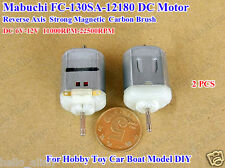 2PCS DC6~12V High Speed Magnetic Reverse Axis Mabuchi 130 Motor Toy Car Boat DIY