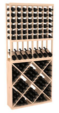 Wooden High Reveal Diamond Cube Combo Wine Cellar Rack Kit in Pine. USA Made.