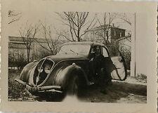 PHOTO ANCIENNE - VINTAGE SNAPSHOT - VOITURE AUTOMOBILE PEUGEOT 202 - CAR