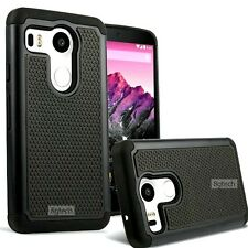 Black Heavy Duty Hybrid Hard Case for Google LG Nexus 5X 2015