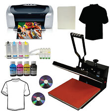 15x15 Heat Press,Heat Press Transfer Tshirt,Epson C88+ Printer,CISS,Bulk Ink Kit