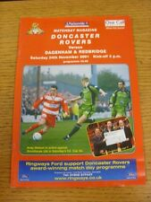 24/11/2001 Doncaster Rovers v Dagenham And Redbridge  (Excellent Condition)