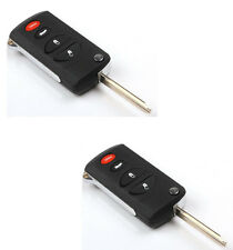 2 For Dodge Viper Neon 4 Button Flip Remote Key Shell Case Chrysler Sebring 300M