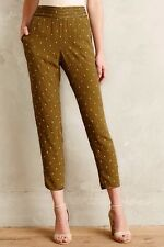 NEW Anthropologie Goldform Trousers by Elevenses, Moss Color, Size 8