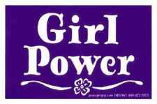 Girl Power - Magnetic Small Feminist Bumper Sticker / Decal Magnet