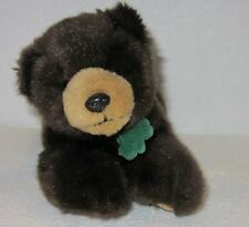 "Bank Of The West Bear Plush Stuffed Animal 8"" Laying Down Brown Soft Toy"