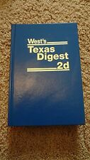 New West's Texas Digest 2d 6E - Automobiles 1935 TO DATE - Published 2013