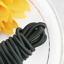"Elastic Cord Round Black 55 ydx 1/4"" great for sewing, crafts & buttonhole loops"