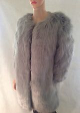 """DESIGNER DUCHESS""  £199 grey faux Long fur Coat Size XL 14/16 bnwt"