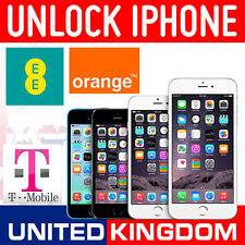 FACTORY UNLOCKING IPHONE 4 4S 5 5S 5C 6 6+ 6S 6S+ SE T-MOBILE ORANGE EE UK CLEAN