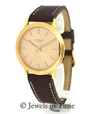 Patek Philippe Vintage 3569 18K Yellow Gold Mens Wrist Watch 3569J Backwind!