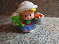 Fisher Price Little People Eddie eddy zoo fish bucket food animal hat safari toy