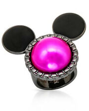 DISNEY  Mickey Mouse Lovely New Ring in Two Tone Base Metal Size 8.