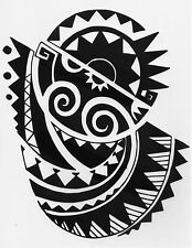 Einmal Tattoo Fake Tattoo Tribal Motiv wasserfest Temporary Tattoo (HB-513)