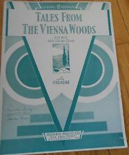 Tales from the Vienna Woods With Guitar Chords Strauss Sheet Music