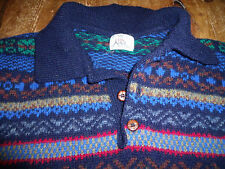 """Clan Royal Edinburgh 100% Wool Fair Isle Men's Jumper 44"""" Chest"""