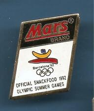 Pin's pin BARCELONA 1992 JEUX OLYMPIQUES MARS BRAND OFFICIAL SNACKFOOD (ref 066)