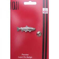 F44 trucha marrón peces Estaño Con Solapa Pin Insignia xtspbf 44