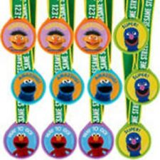 Sesame Street Birthday Party Award Medals 12 Pieces
