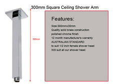 Square Brass Ceiling Mount Shower Arm