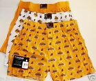 LAKERS Boxers 3 Pack NBA LA S 28/30 M 32/34 L 36/38 XL 40/42 Cotton Underwear
