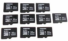 10 x Genuine NEW Toshiba 32GB Micro SD Card Class 10 SDHC-1 Flash Memory 30 MB/S