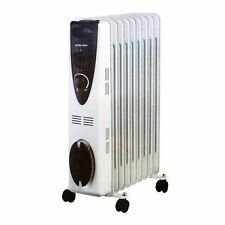 Portable 7 Fin 1.5kw Electric OIL FILLED RADIATOR Heater W/T Auto Safety Cut-Out