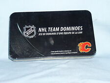 Calgary Flames  NHL TEAM DOMINOES Double Six Domino Set  NEW in GIFT TIN BOX