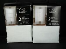 "VOILE Dream Home Pole Pocket Style SHEER Drapes Panels 40 x 84"" WHITE S/4"