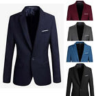 Stylish Mens Casual Slim Fit One Button Business Men Suit Blazer Coat Jacket Top