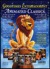 LEO THE LION - King of the Jungle__Orig. 1994 Trade AD promo__Goodtimes Entmt.