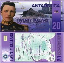 ANTARCTICA 20 DOLLARS 2008 ERROR WITHOUT HOLOGRAM UNC