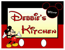 PERSONALIZED MICKEY MOUSE KITCHEN MAGNET
