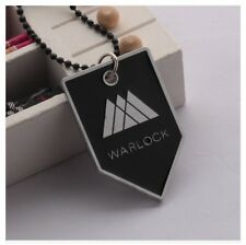 Destiny Game Warlock Class Symbol Logo Metal Dog-Tag Pendant and Chain Necklace