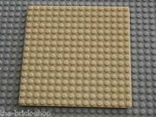 Plaque de base beige LEGO Tan Baseplate 16 x 16 ref 3867 / set 6455 1782 6442 ..