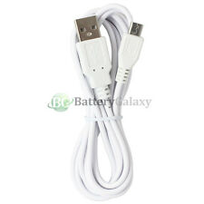 6FT White Micro USB Battery Charger Data Sync Cable For Android Cell Phone