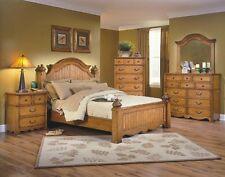 1pc Eastern King Size Bedroom Set Toffee Traditional Beautiful Bedroom Furniture