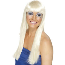 Blonde 70s Dancing Queen Wig ABBA Funky Fancy Dress Costumes Accessories 42098