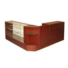 #SCCOMBO-WAL SHOWCASE GLASS DISPLAY CASE CHECK OUT COUNTER SET **BRAND NEW**