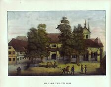 ◉❚❚ Historische Vedute KLOSTER MAULBRONN 1830 Enz ZISTERZIENSER ABTEI KIRCHE