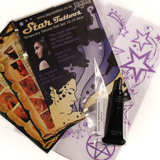 JAGUA BLACK Temp Tattoo STAR kit 8 Designs not henna tm*
