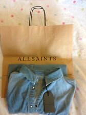ALL SAINTS WOMENS DENIM SHIRT BNWT UK 14 EU 42 INDIGO BLUE