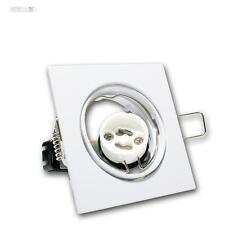 10 Set Luminaire à encastrer carré pivotant GU10 230V blanc Spot encastré GU 10