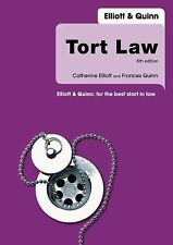 Tort Law by Catherine Elliott and Frances Quinn (2007, Paperback, Revised)
